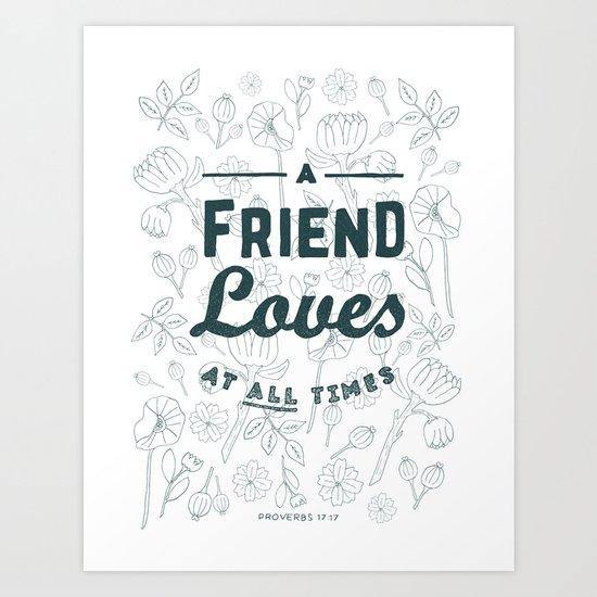 24/52: Proverbs 17:17 Art Print