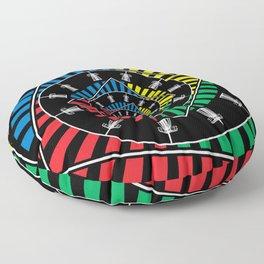 Spinning Disc Golf Baskets Floor Pillow