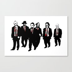 Reservoir Horror Icons Canvas Print