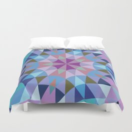 Lavender Retro Geometry Duvet Cover