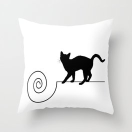 les chats #2 Throw Pillow