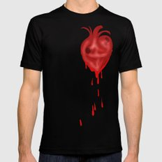 Bleeding Heart Redux Black Mens Fitted Tee X-LARGE