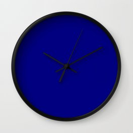 Navy blue color Wall Clock