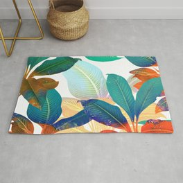color leaves Rug