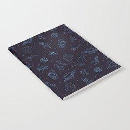 Blue Space Pattern Notebook