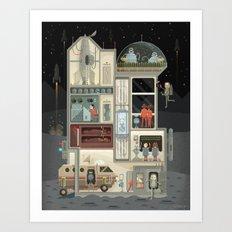 Scene #02: 'Moon Base' Art Print