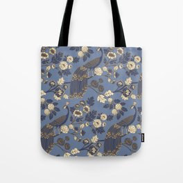 Peacock Garden {Eastern Blue} Tote Bag