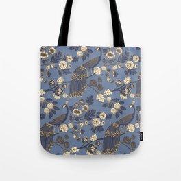 Peacock Garden {Eastern Blue} Tote Bag