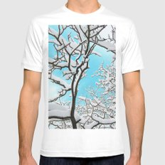 snow Mens Fitted Tee White MEDIUM