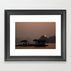 Halong Sunset Framed Art Print