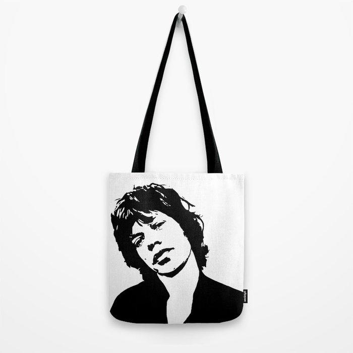 "Sir Michael Philip ""Mick"" JaggerBlack White Face, Music, Art Tote Bag"