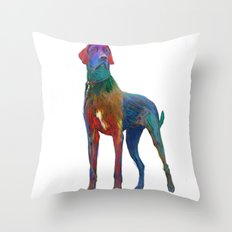 Great Dane Uncropped Throw Pillow
