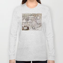 Map of The Ottoman Empire - 18th century Long Sleeve T-shirt
