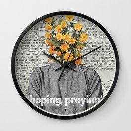 Hoping, praying Wall Clock