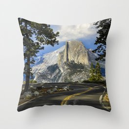 Yosemite Road To Half Dome   6-5-19 Throw Pillow