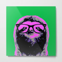 Warhol Sloth (4) Metal Print