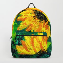 Sunflower on a Field of Green Backpack
