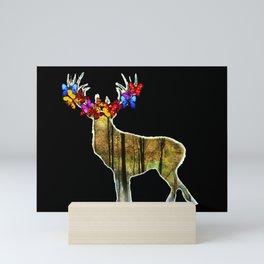 Deer flower Mini Art Print