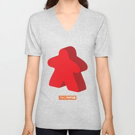 Large and in Charge Meeple Unisex V-Neck