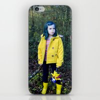 coraline iPhone & iPod Skins featuring Coraline by Kelly Is Nice