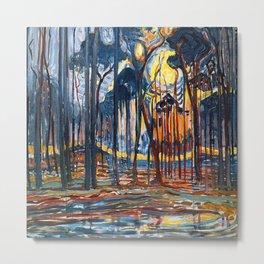 Piet Mondrian Woods near Oele Metal Print