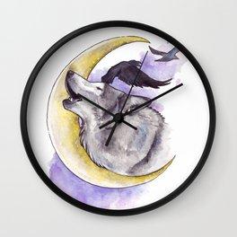 Crescent Howl Wall Clock