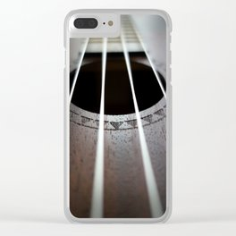 Ukelele Strings Clear iPhone Case