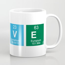 Periodic Table of Love Mug Coffee Mug