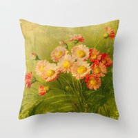 postcard Throw Pillows featuring Vintage Postcard by Connie Goldman