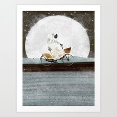shopping for astronauts Art Print