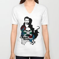 captain hook V-neck T-shirts featuring Shadows The Captain Hook by Mad42Sam