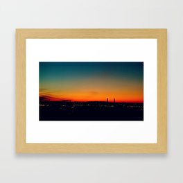 South London Sunset Framed Art Print