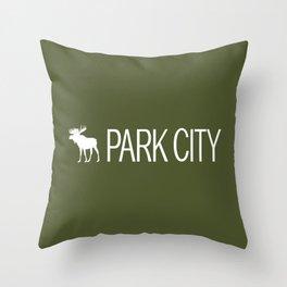 Utah: Park City Moose Throw Pillow