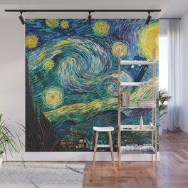 Tardis Art Starry Painting Night Wall Mural