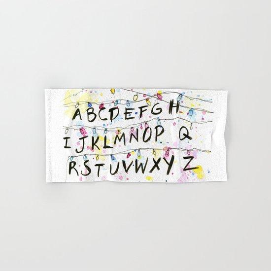 Stranger Things Alphabet Wall Christmas Lights Typography Hand & Bath Towel