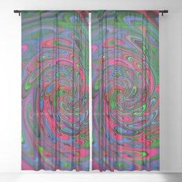 Trippy Swirl Sheer Curtain