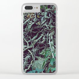 Very much tangled and scary Clear iPhone Case