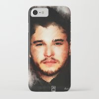 john snow iPhone & iPod Cases featuring Kit Harrington aka John Snow by André Joseph Martin