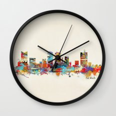Fort worth texas Wall Clock