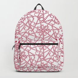 Candy cane flower pattern 2 Backpack