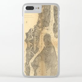 Vintage Map of St Augustine Harbor (1862) Clear iPhone Case