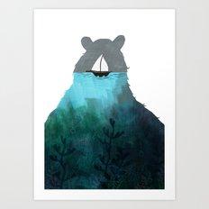 To me comes a creature Art Print
