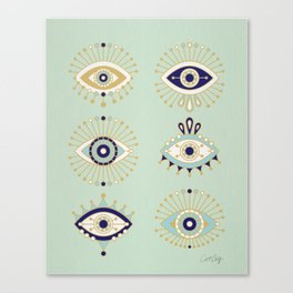 Evil Eye Collection Canvas Print