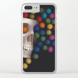 Skull and felt 2 Clear iPhone Case