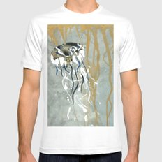 Jellyfish Voyage Mens Fitted Tee White MEDIUM