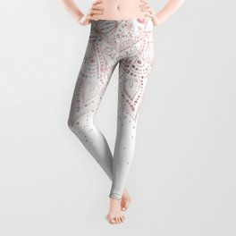 Elegant rose gold mandala confetti design Leggings