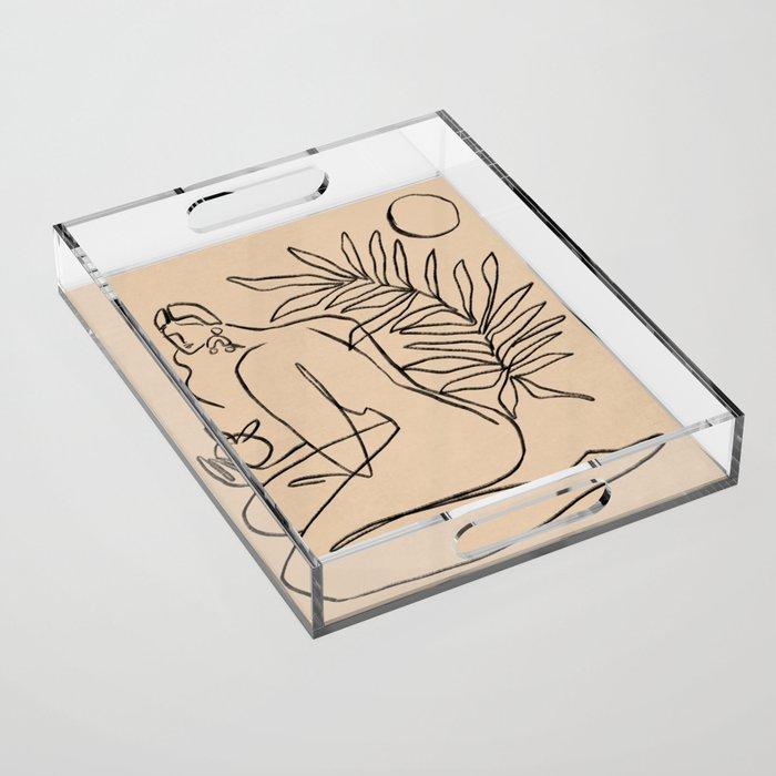Summer lines V    Acrylic Tray