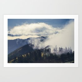 Mountain Clouds Art Print