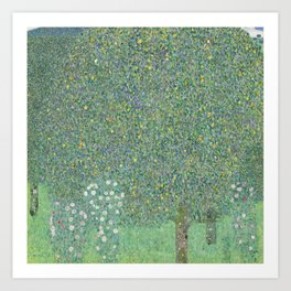 Gustav Klimt - Rosebushes Under the Trees Art Print