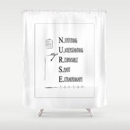 NURSE DEFINED Shower Curtain